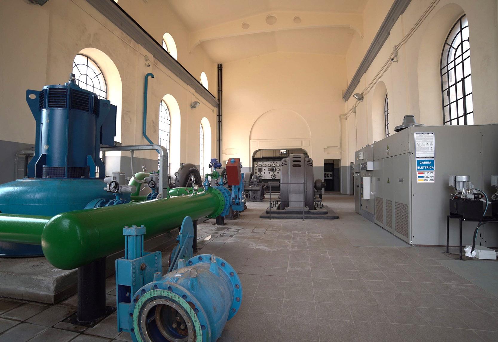 La Centrale Idroelettrica Battaglia_Interni sala macchine
