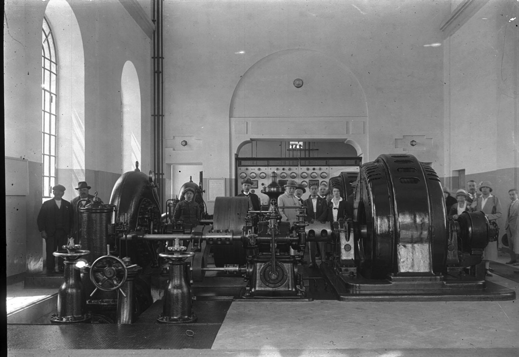 La Centrale Idroelettrica Battaglia_Foto storica dell'inaugurazione