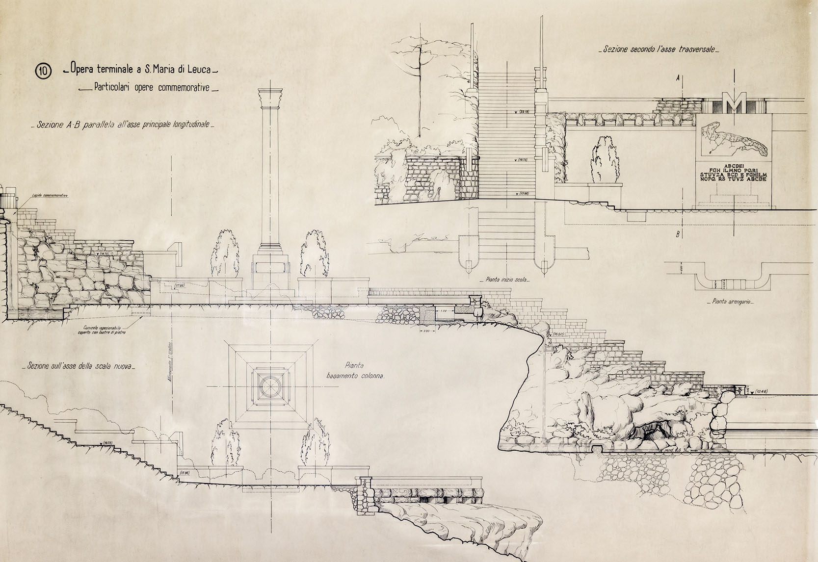 La via dell'acqua. Pratiche di valorizzazione del patrimonio industriale dell'Acquedotto Pugliese_Progetto dell'opera terminale di Santa Maria di Leuca